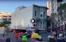 Watch a skilled trucker move a historic house through the streets of San Francisco