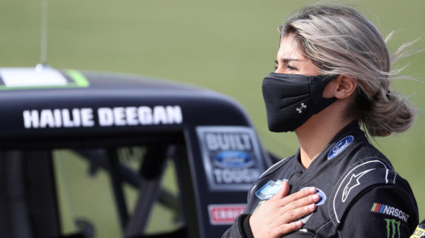 NASCAR driver Hailie Deegan apologizes for utilizing slur during iRacing occasion
